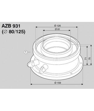 Adapter powietrzno-spalinowy z króćcami pomiarowymi AZB 931