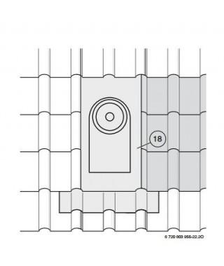 Przepust dachowy poziomy do rury (przy nachyleniu dachu 30-45o) AZ 122