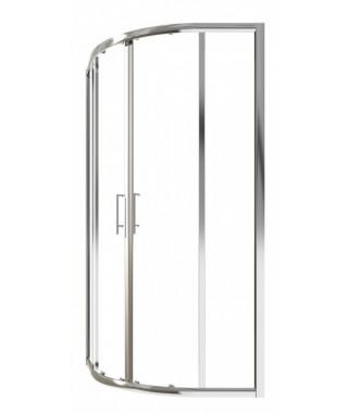 Kabina CERSANIT ARENA 80 profil chromowany, półokrągła, szkło mrożone