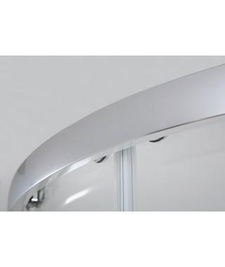 Kabina półokrągła 100x100x190 SANPLAST KP4/TX5b profil srebrny błyszczący. wzór szyby W0
