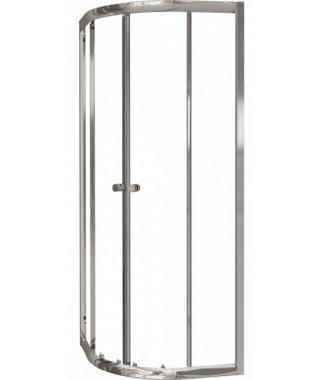 Kabina CERSANIT TESALIA 80 profil chromowany,półokrągła, szkło czyste