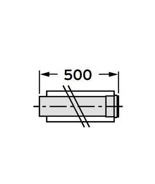 Rura przedłużająca koncentryczna ∅ 60/100 mm, 0,5 m, PP VAILLANT