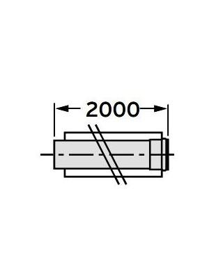 Rura przedłużająca koncentryczna ∅ 60/100 mm, 2,0 m, PP VAILLANT