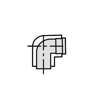 Kolano koncentryczne 87º ∅ 60/100 mm. PP VAILLANT