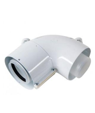 Kolano rewizyjne koncentryczne 87º ∅ 60/100 mm, PP VAILLANT