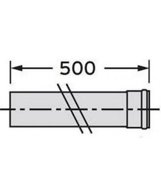 Rura przedłużająca DN 80. 0.5 m. PP VAILLANT