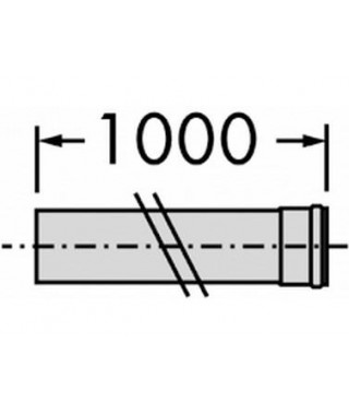 Rura przedłużająca DN 80. 1.0 m. PP VAILLANT