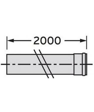 Rura przedłużająca DN 80. 2.0 m. PP VAILLANT