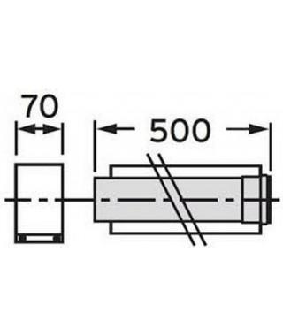 Rura przedłużająca koncentryczna ∅ 80/125 mm. 0.5 m. PP VAILLANT
