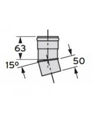 Kolanko 15° DN 80 (2 sztuki) VAILLANT