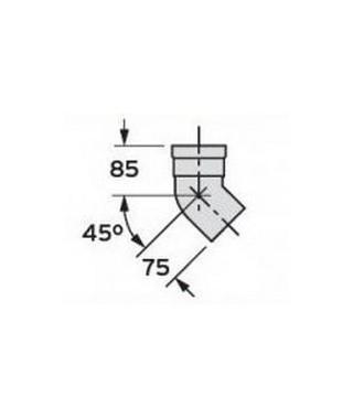Kolanko 45° DN 80 (2 sztuki) VAILLANT