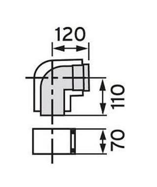 Kolanko 87°. koncentryczne ∅ 80/125 mm. PP VAILLANT