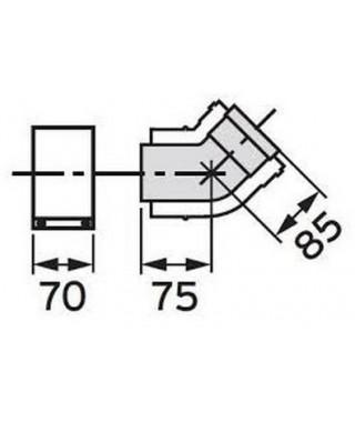 Kolanko 45°. koncentryczne ∅ 80/125 mm. PP (2 sztuki) VAILLANT