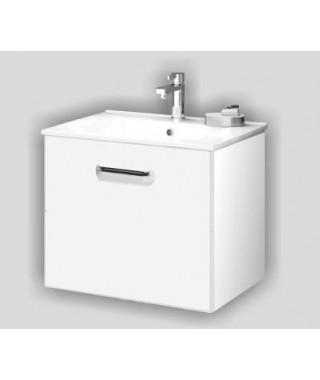 Zestaw szafka + umywalka DEFTRANS SLIM D80 biały połysk