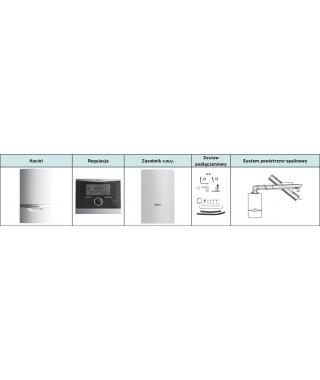 Vaillant Pakiet ecoTEC VC plus 206/5-5 + VIH Q 75B + multiMATIC 700 + zestaw poziomy przez ścianę lub dach