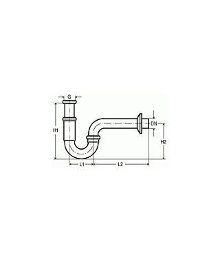 Półsyfon umywalkowy rurowy chromowany VIEGA