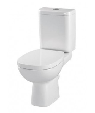 WC kompakt CERSANIT FACILE 3/6L poziomy + deska antybakteryjna K30-017