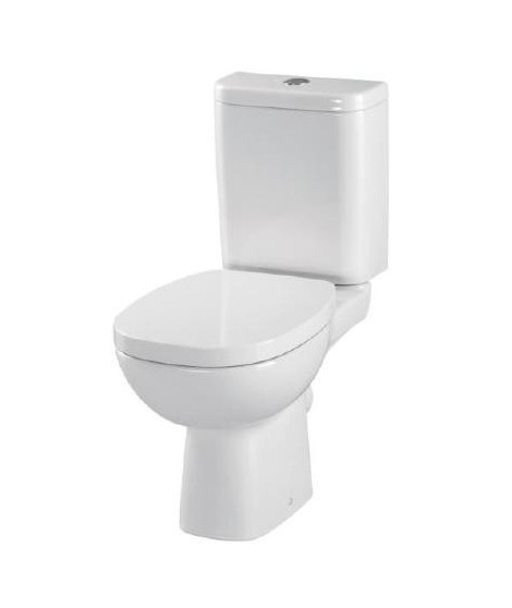 WC kompakt CERSANIT FACILE 3/6L poziomy + deska wolnoopadajaca