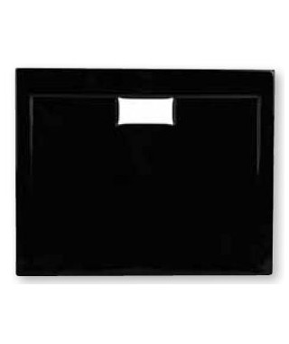 Brodzik prostokątny POLIMAT 100 x 80 x 3 x 4,5 cm COMFORT black mat