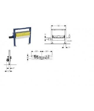 Element montażowy do natrysków z odpływem ściennym, h90, H50 GEBERIT duofix