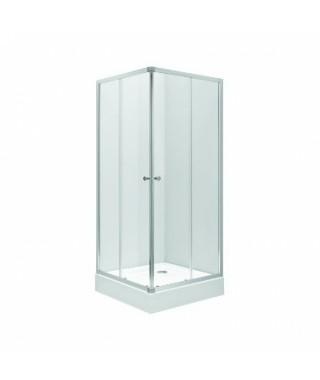 Kabina kwadratowa KOŁO FIRST 80x80x190 profil srebrny połysk. szkło czyste