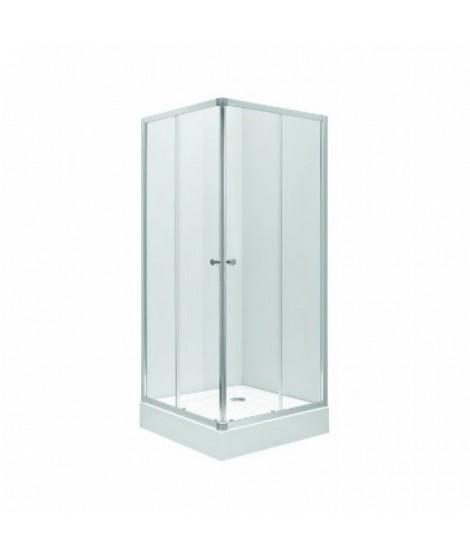 Kabina kwadratowa KOŁO FIRST 80x80x190 profil srebrny połysk. szkło satyna
