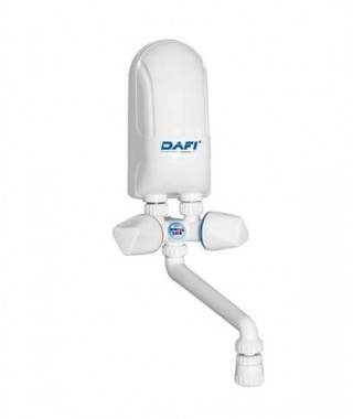 Elektryczny przepływowy podgrzewacz wody DAFI IPX5 4,5KW z baterią