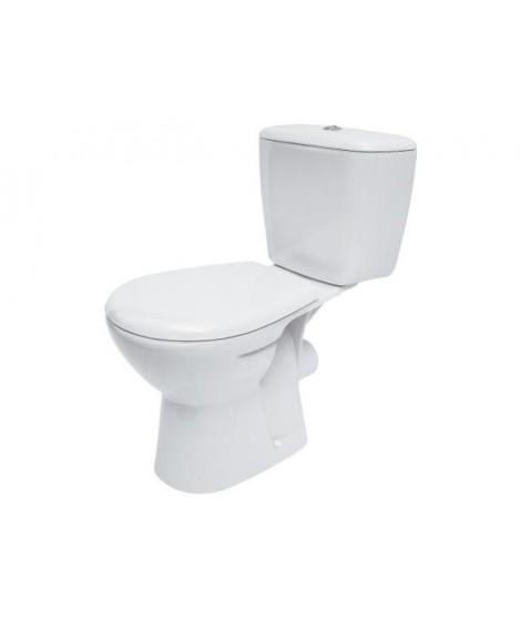 WC kompakt CERSANIT ATLANTIC odpływ poziomy + deska