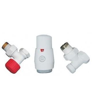 Zestaw termostatyczny kątowy Z13 INSTAL-PROJEKT biały