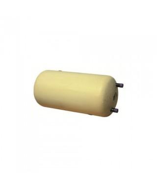 Wymiennik C.W.U. z podwójną wężownicą GALMET 80L w żółtej piance poliuretanowej