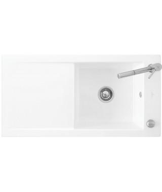 Zlewozmywak ceramiczny biały VILLEROY & BOCH TIMELINE 60 100X51 679001R1 (White Alpin)