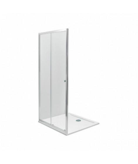 Drzwi rozsuwane 2-elementowe KOŁO FIRST 100 Szkło hartowane SATYNA - profile srebrne połysk