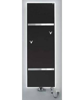 Grzejnik łazienkowy GORGIEL FORTIS V 1460/592 337W (VIP kolor osłony z kamienia ciemny)
