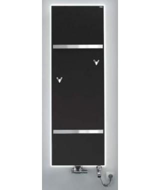 Grzejnik łazienkowy GORGIEL FORTIS V 1760/592 443W (LED biały +VIP kolor osłony z kamienia ciemny)