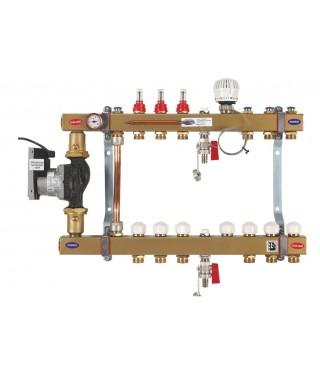 Podwójny układ pompowy do ogrzewania podłogowego i grzejnikowego z energooszczędną pompą GORGIEL DRS 2-3PTMe