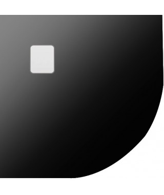 Brodzik półokrągły RIHO Basel 90x90x4.5 cm 451 czarny mat