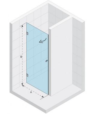 Drzwi prysznicowe 70 RIHO S101 Scandic szkło przezroczyste