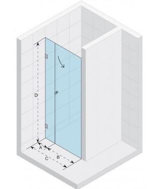Drzwi prysznicowe 120 RIHO S102 Scandic szkło przezroczyste