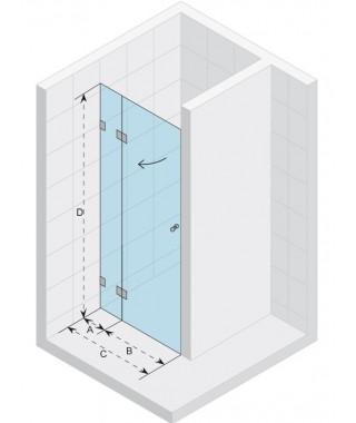 Drzwi prysznicowe 120 RIHO S104 Scandic szkło przezroczyste