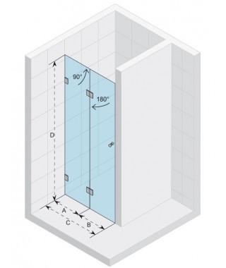 Drzwi prysznicowe 80 RIHO S105 Scandic szkło przezroczyste