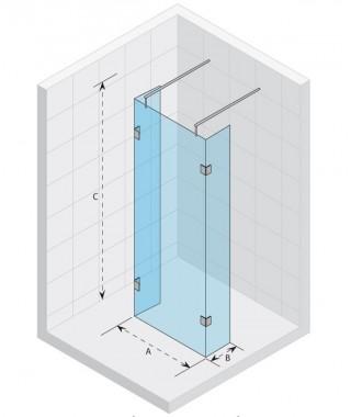 Kabina prysznicowa walk-in 120x90x200 RIHO Scandic S202 szkło przezroczyste