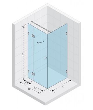 Kabina kwadratowa 90x90 RIHO Scandic S203 szkło przezroczyste