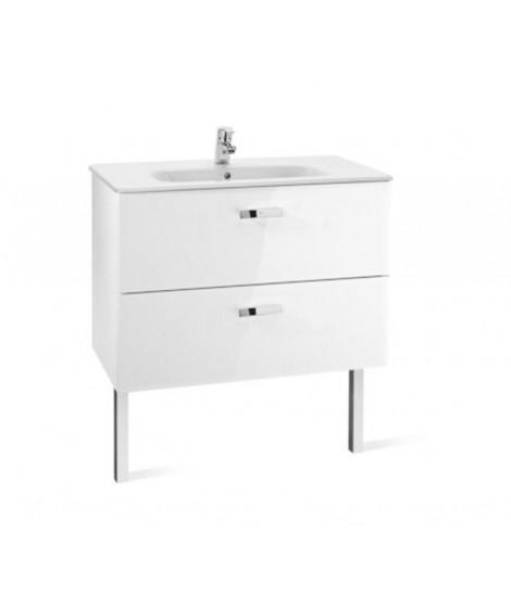Zestaw łazienkowy ROCA VICTORIA BASIC: umywalka 80 cm + szafka podumywalkowa 78.5 cm z szufladami. biały