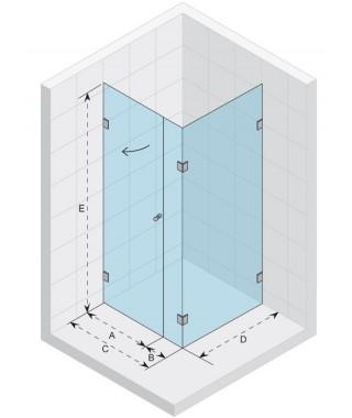 Kabina kwadratowa 90x90 RIHO Scandic S204 szkło przezroczyste