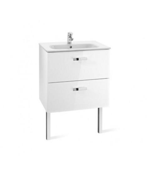 ROCA VICTORIA BASIC UNIK zestaw łazienkowy umywalka 70 cm + szafka podumywalkowa 68.5 cm z szufladami. biały A855853806
