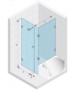Kabina kwadratowa 90x90 RIHO Scandic S208 szkło przezroczyste