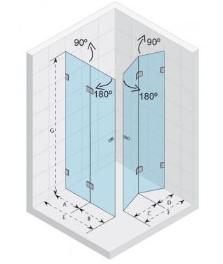 Kabina kwadratowa 90x90 RIHO Scandic S211 szkło przezroczyste
