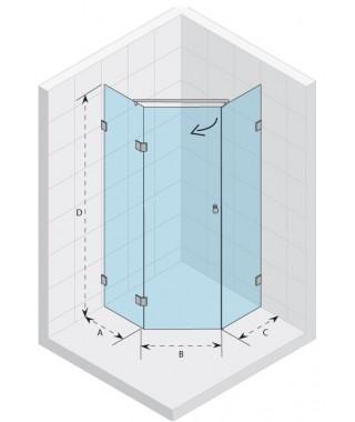 Kabina kwadratowa 90x90 RIHO Scandic S301 szkło przezroczyste