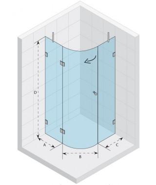 Kabina półokrągła 100x100 RIHO Scandic S308 szkło przezroczyste