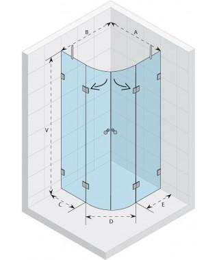 Kabina półokrągła 100x100 RIHO Scandic S309 szkło przezroczyste